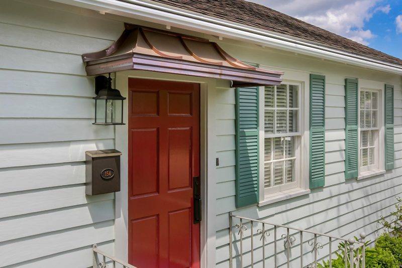 Metal Door Awnings Custom Built From Crescent City Copper