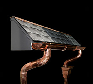 Custom Copper Gutters