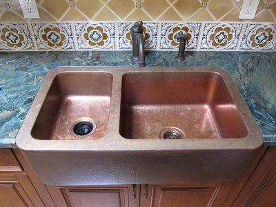 stunning handmade copper kitchen sink